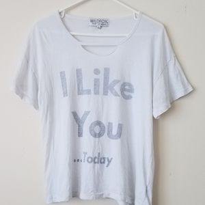 Wildfox 'I Like You...Today' Lightweight Tshirt